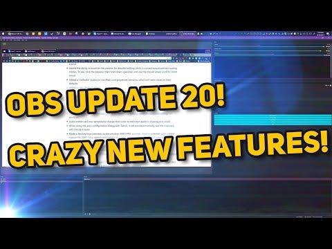 OBS Studio 20.0 Update! Video Transitions, NEW THEME, Modular Interface! Sick update walkthrough