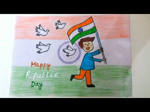 How to draw Republic day drawing easy | Republic day ...