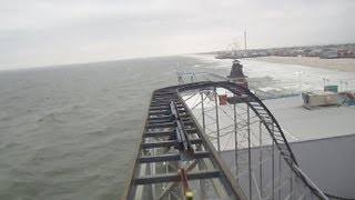 Star Jet front seat on-ride HD POV Casino Pier Seaside Heights New Jersey Shore
