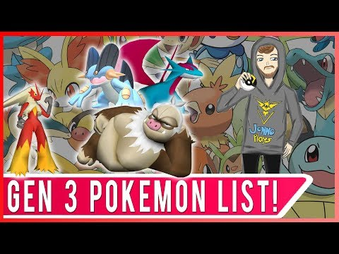 LET'S LOOK AT GENERATION 3! Complete List of Every Gen 3 Pokemon Coming Soon to Pokemon GO!