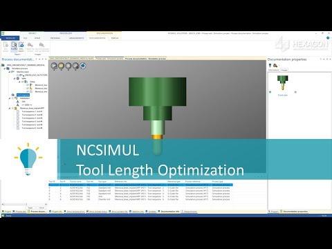 Tool Length Optimization in NCSIMUL | Tutorial