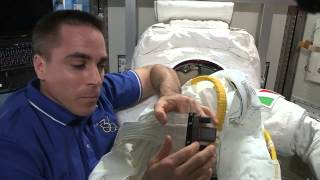 Astronaut Chris Cassidy Shows Recent Spacesuit Malfunction (Part 2)   NASA Space HD