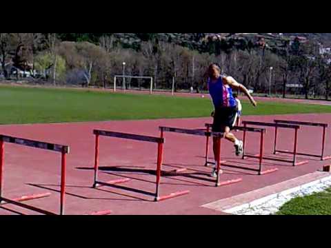 Triple Jump Drill One Leg Over Hurdles
