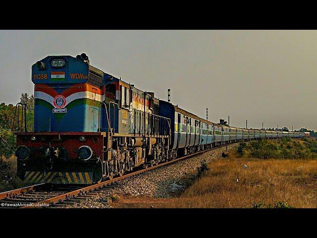 Fast Trains Thrashing Past Murdeshwar   Konkan Railway