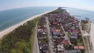Półwysep Helski. Wieś Kuźnica i miasto Hel.