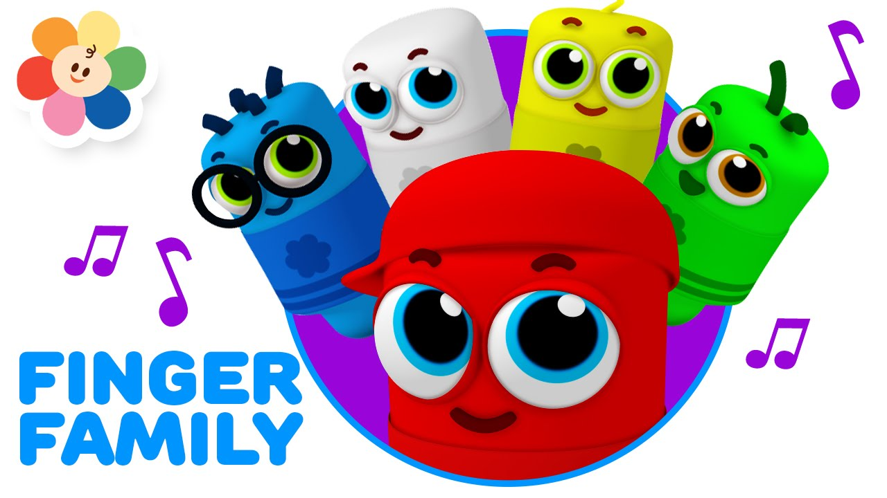 Finger Family Song - Color Crew Babies | 3D Rhymes for Children ...