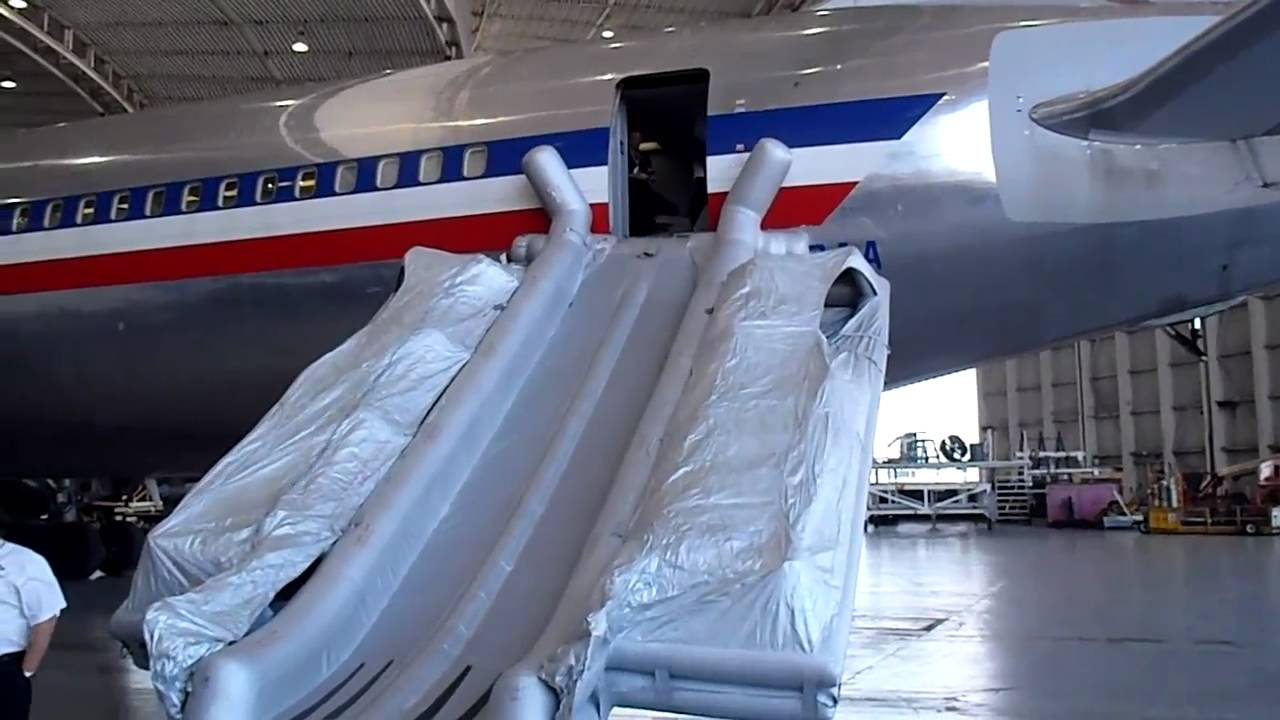 Slide Deployment Of Boeing 767 At Miami Dade Int Airport