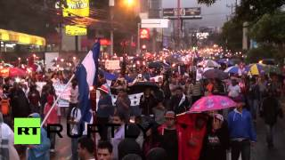 Honduras: Us Flag Burns At Torch-lit Anti-corruption Rally In Tegucigalpa