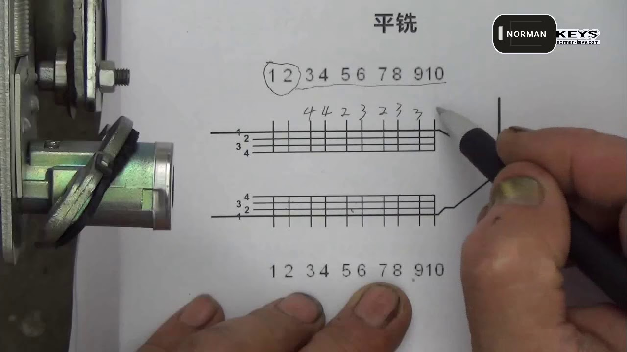 Demo operation video of Lishi tool TOY43AT 2-in-1 Auto Pick and Decoder
