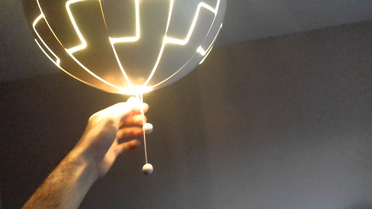 Ikea Sphere Light/Lamp (Future Death Star maybe?) - YouTube