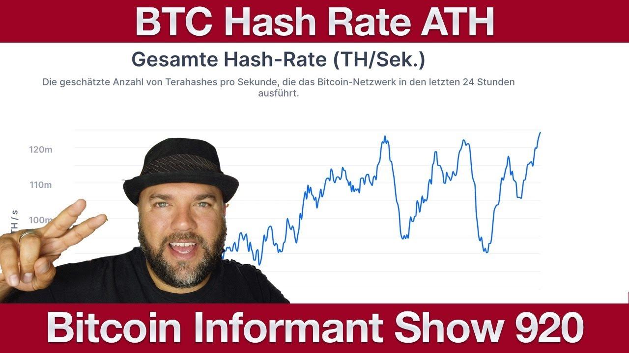 #920 Ethereum Token Aktien und Fonds, Bitcoin Hash Rate All Time High & Bitcoin com Wallet Stablecoi