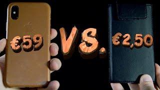 iPhone X - Чехол за 2,50€ против Чехла за 59€