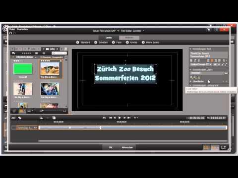 Aussehen des Titels ändern in Pinnacle Studio 16 und 17 Video 56 von 114