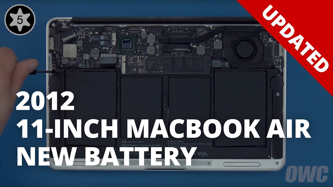 How To Replace The Battery In A 11 Inch Macbook Air Mid 2012 Updated Youtube