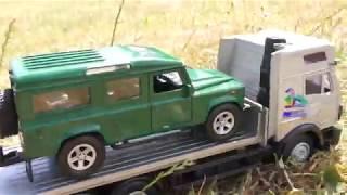 TOY TRUCK MERCEDES TRANSPORTATION LAND ROVER DEFENDER CAR