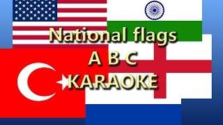 LEARN ALPHABET, Karaoke, ABC, National Flags