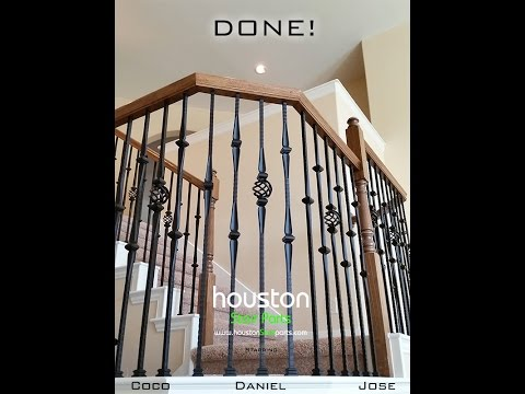 Affordable Stair Parts - How to install iron balusters DIY Guide