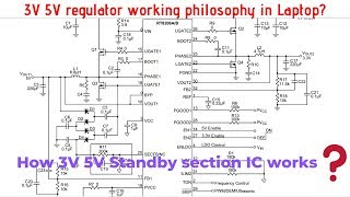 How 3V 5V regulator IC works in laptop || Laptop repair course online in Hindi