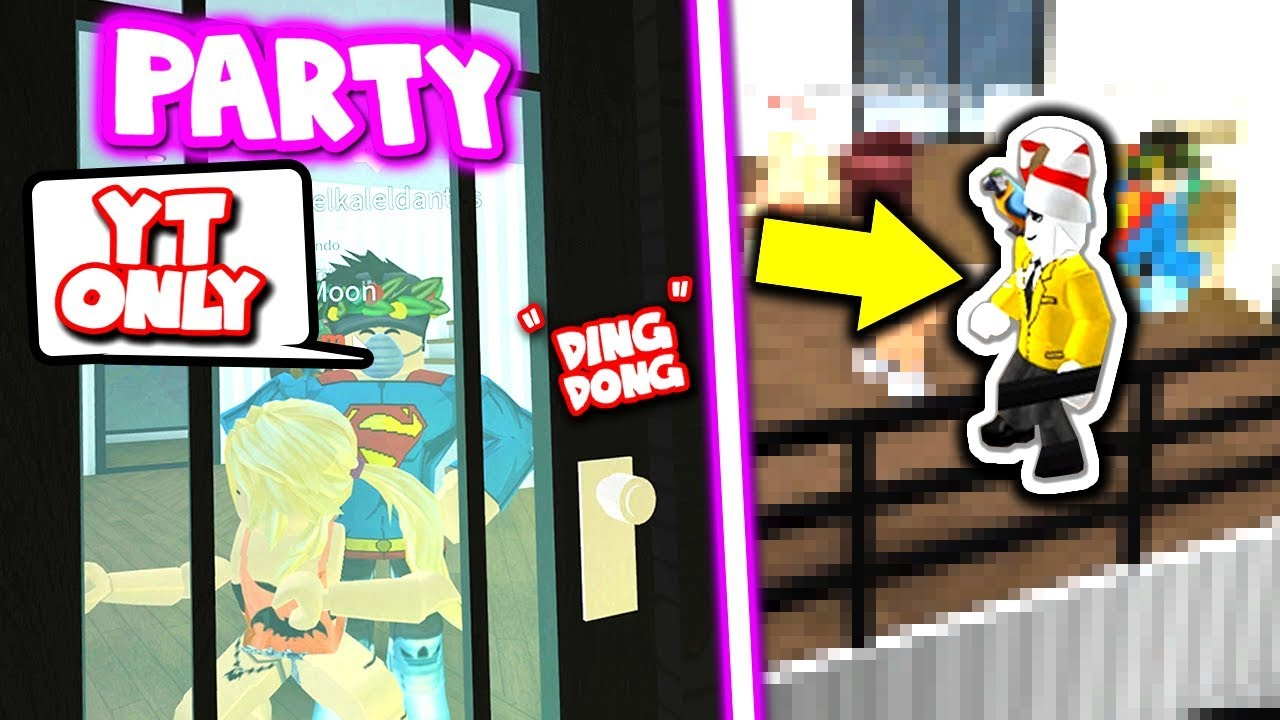 How To Make A Party In Roblox In Mm2 Exclusive Youtuber Only Party In Roblox Bloxburg Youtube