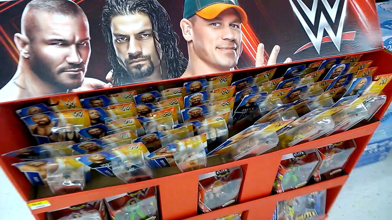 Walmart Wwe Toys : Wwe display at walmart wrestlemania elite star wars