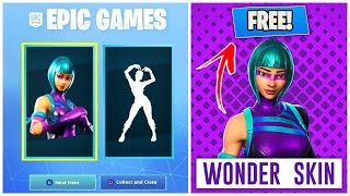 HOW TO GET THE WONDER SKIN FOR FREE IN FORTNITE | WONDER SKIN CODES FOR FREE WORKING METHOD!