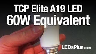 60 watt equivalent led light bulbs tcp 10w a19 a shape