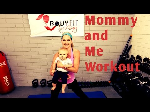 18 Minute Mommy and Me Full Workout—Workout to do with baby of any age