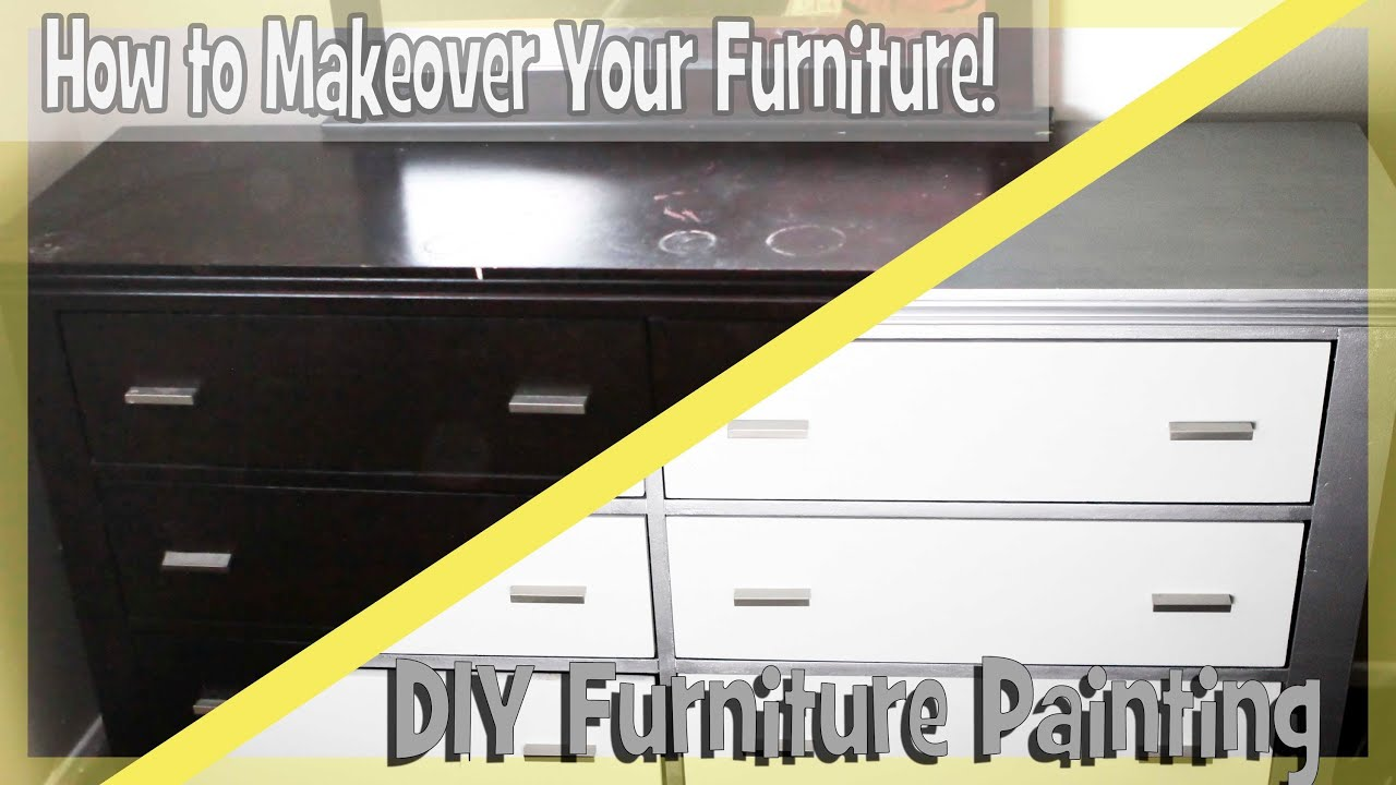 DIY: Paint Bedroom Furniture Easy!   YouTube