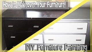 DIY: Paint Bedroom Furniture Easy!(Easily Transform your old bedroom dresser by painting. It is fun, cheap and rewarding! This is a video on how I painted my bedroom dresser. Enjoy! Items Used: ..., 2014-03-24T03:57:49.000Z)