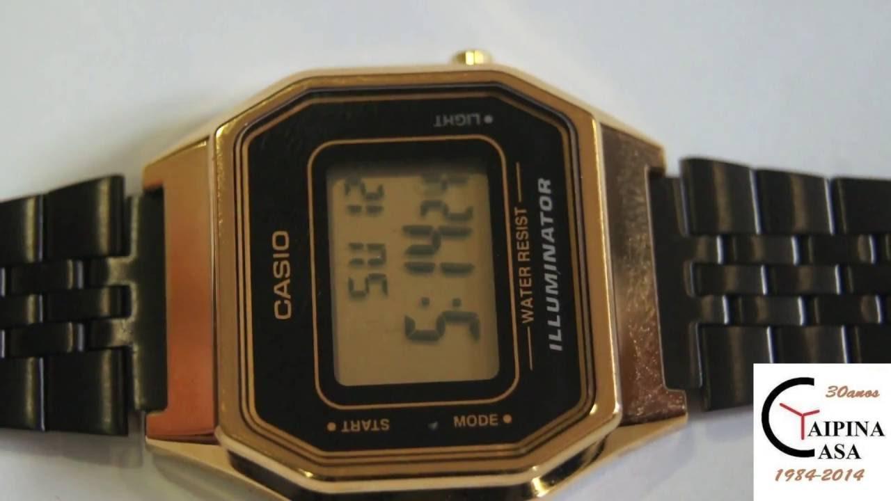 NEW LA680WEGB-1AEF - CASIO Collection Retro - YouTube ca3d164227