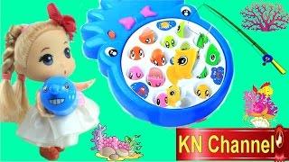 Đồ chơi Câu Cá Hai trong Một của Búp bê & trò chơi câu cá fishing toys game Baby Doll Kids toys