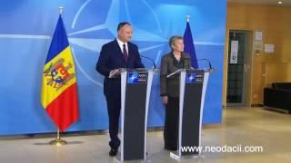 Conferinţa de presă susţinută de președintele Igor Dodon şi secretarul general adjunct al NATO.