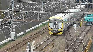 武蔵野線を走るE257系500番台 団体列車 新秋津駅通過