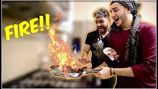 PUTTING KITCHEN ON FIRE!!!