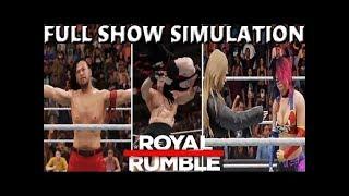 WWE 2K18 SIMULATION: ROYAL RUMBLE 2018 FULL SHOW HIGHLIGHTS