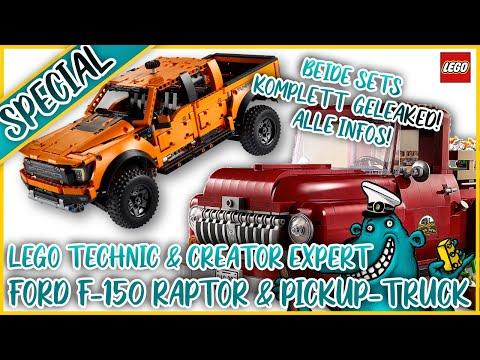 LEGO #42126 Ford F-150 Raptor + #10290 Pickup Truck komplett geleaked!