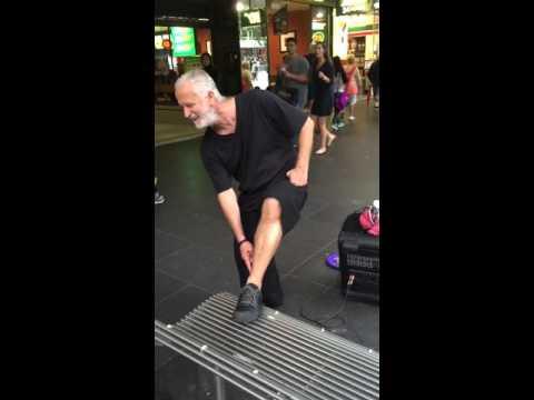 Funny homeless guy dancing 2015