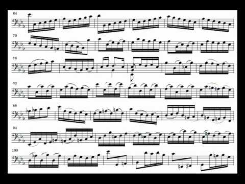 J. S. Bach Cello Suite n. 5 BWV 1011 - 1. Prelude - Piano Transcription [tbpt47]
