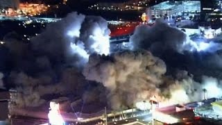 Raw: Riviera Hotel Imploded in Las Vegas