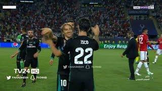 ملخص ريال مدريد ومانشستر يونايتد 2 - 1 شاشه كاملهHD نهائي السوبر الاوربي
