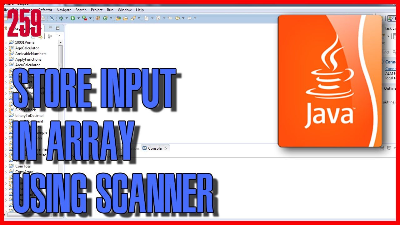 LEARN JAVA How to store input values in array - YouTube