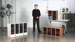 Safco Wood Corrugated Literature Organizer