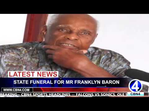 STATE FUNERAL FOR MR FRANKLYN BARON