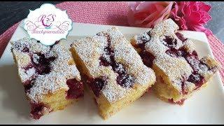 Kirsch-Blech Kuchen / Kirazli Kek Tarifi