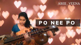 po nee po 🙃 - 3 movie songs| dhanush| Shruti Hassan | Anirudh songs| veena cover by #Abi_veena