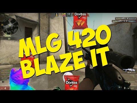 CS:GO - Немножко MLG 420 BLAZE IT