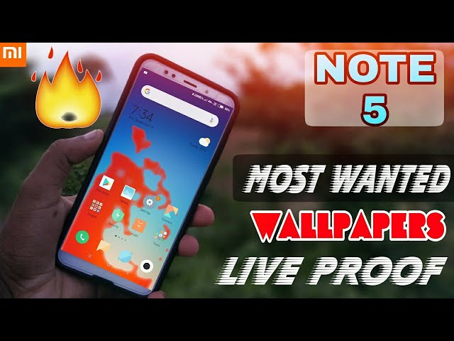 Redmi Note 5 || Most Wanted Wallpapers|| Very Fanny Live Proof...!