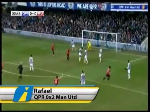 Goal Rafael Manchester United vs QPR 2-0 - 23-02-2013