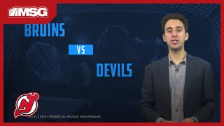 FanDuel Tips To Bet On Tonight's Devils-Bruins Game (11/19/19)