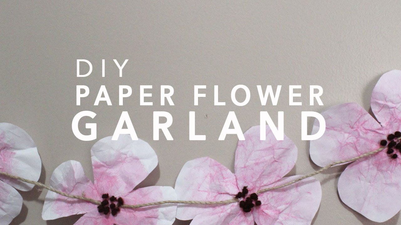 Diy paper flower garland youtube mightylinksfo